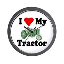 I Love My Tractor Wall Clock