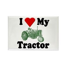 I Love My Tractor Rectangle Magnet