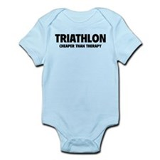 Triathlon Cheaper Than Therapy Infant Bodysuit