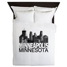 Minneapolis Skyline Queen Duvet
