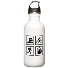 Swim Bike Run Drink Sports Water Bottle