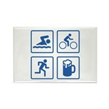 Swim Bike Run Drink Rectangle Magnet (100 pack)