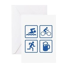 Swim Bike Run Drink Greeting Card