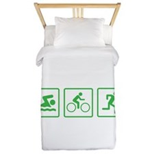 Triathlon Swim Bike Run Twin Duvet