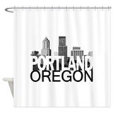 Portland Skyline Shower Curtain