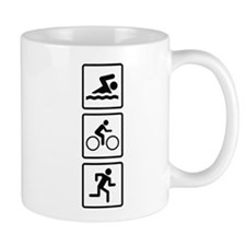 Triathlon Swim Bike Run Mug