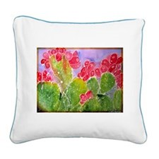 Cactus! Southwest art! Square Canvas Pillow
