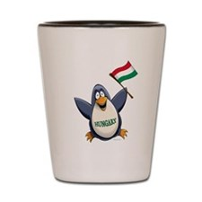 Hungary Penguin Shot Glass