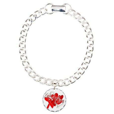 AIDS Love Hope Cure Charm Bracelet, One Charm