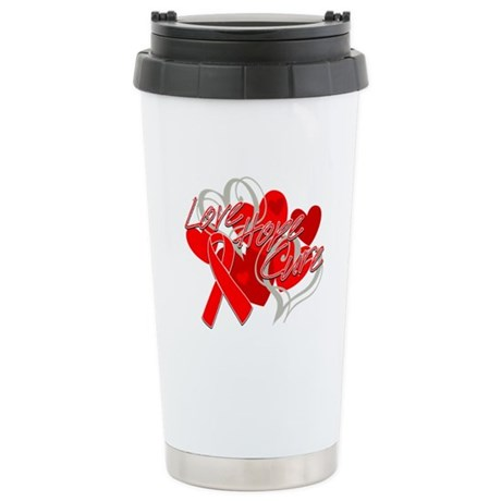 AIDS Love Hope Cure Ceramic Travel Mug