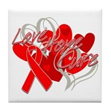 AIDS Love Hope Cure Tile Coaster