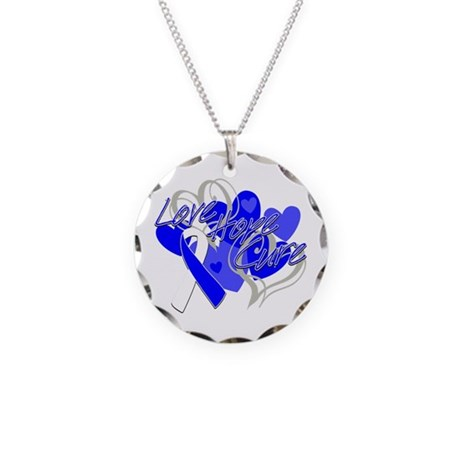 ALS Love Hope Cure Necklace Circle Charm