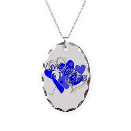 ALS Love Hope Cure Necklace Oval Charm