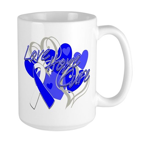 ALS Love Hope Cure Large Mug