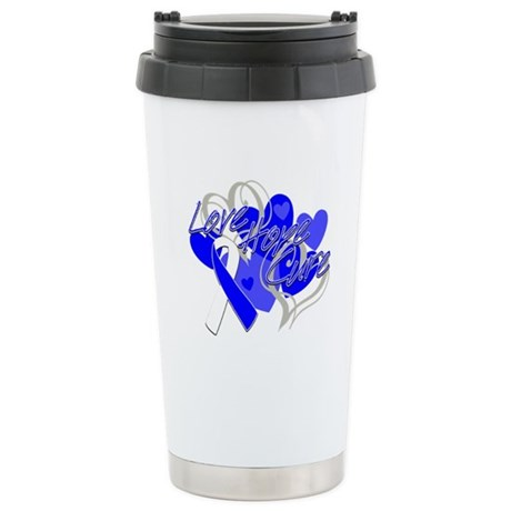 ALS Love Hope Cure Ceramic Travel Mug