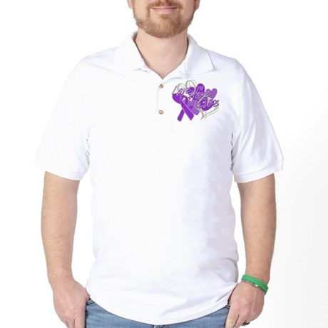 Alzheimer's Disease Love Hope Cure Golf Shirt