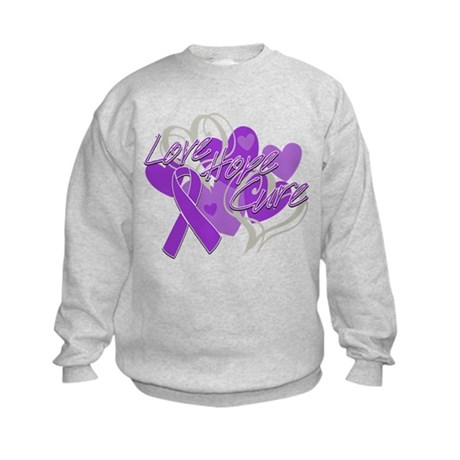 Alzheimer's Disease Love Hope Cure Kids Sweatshirt