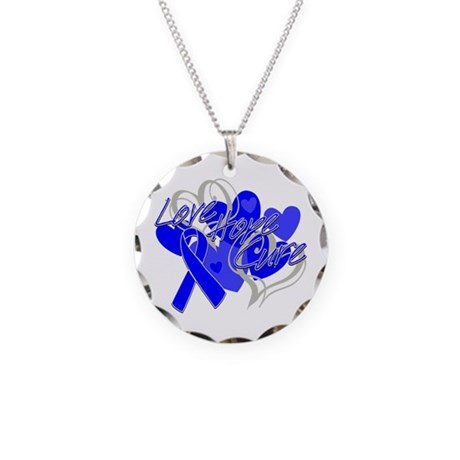 Anal Cancer Love Hope Cure Necklace Circle Charm