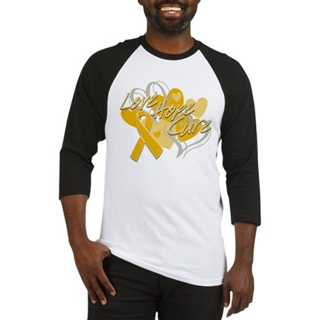 Appendix Cancer Love Hope Cure Baseball Jersey