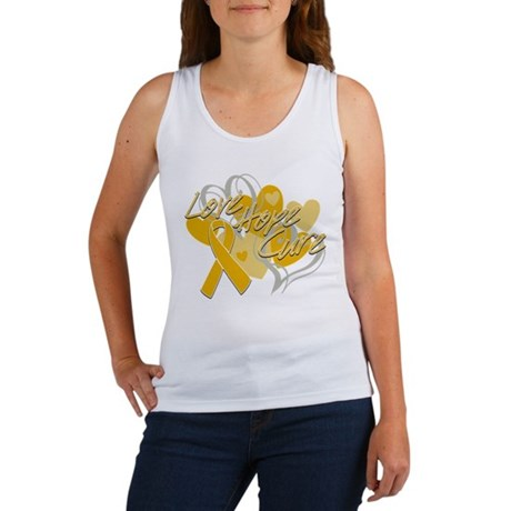 Appendix Cancer Love Hope Cure Women's Tank Top