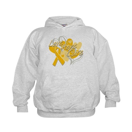 Appendix Cancer Love Hope Cure Kids Hoodie