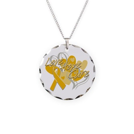 Appendix Cancer Love Hope Cure Necklace Circle Cha