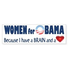Cute Obama womens Bumper Sticker