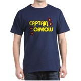 CAPTAIN OBVIOUS SHIRT TSHIRT  Black T-Shirt