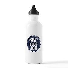 Worlds Best Boob Job Water Bottle