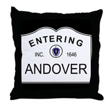 Cute Massachusetts cities Throw Pillow