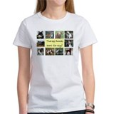 Therapy Animals Work For Hugs Black T-Shirt Women'