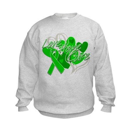 Bile Duct Cancer Love Hope Cure Kids Sweatshirt