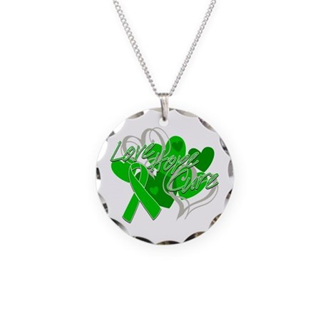 Bile Duct Cancer Love Hope Cure Necklace Circle Ch