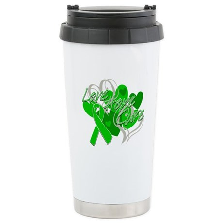 Bile Duct Cancer Love Hope Cure Ceramic Travel Mug