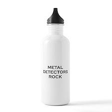 Metal Detectors Rock Water Bottle