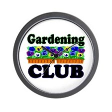 Gardening Club Wall Clock