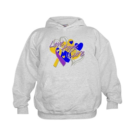 Bladder Cancer Love Hope Cure Kids Hoodie