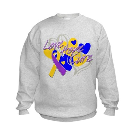Bladder Cancer Love Hope Cure Kids Sweatshirt