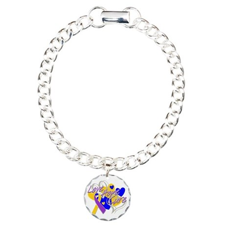 Bladder Cancer Love Hope Cure Charm Bracelet, One