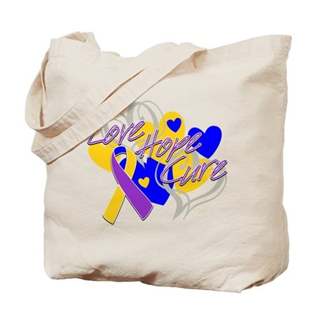 Bladder Cancer Love Hope Cure Tote Bag