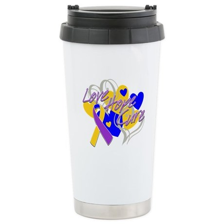 Bladder Cancer Love Hope Cure Ceramic Travel Mug