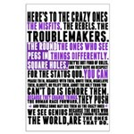 Heres to the Crazy Ones Large Poster
