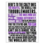 Heres to the Crazy Ones Small Poster