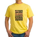 Heres to the Crazy Ones Yellow T-Shirt