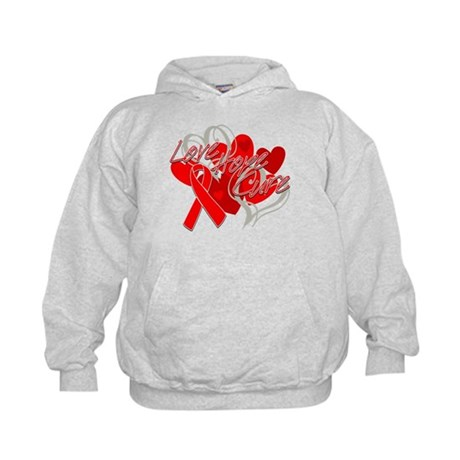 Blood Cancer Love Hope Cure Kids Hoodie