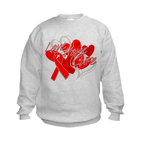 Blood Cancer Love Hope Cure Kids Sweatshirt
