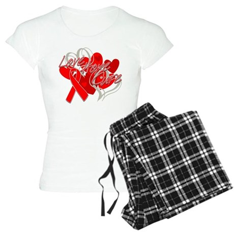 Blood Cancer Love Hope Cure Women's Light Pajamas