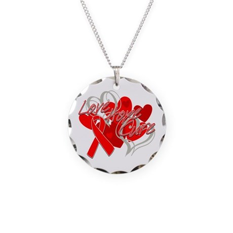 Blood Cancer Love Hope Cure Necklace Circle Charm