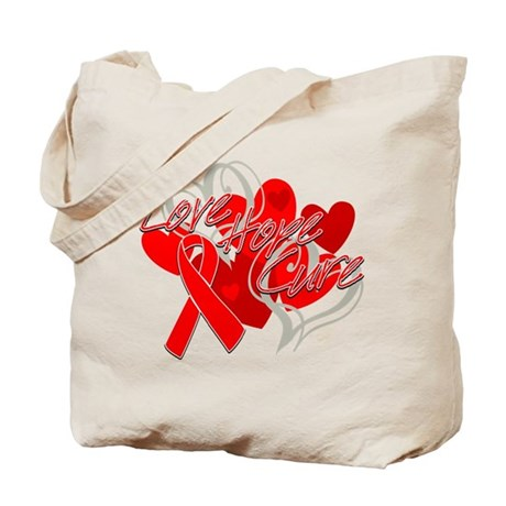 Blood Cancer Love Hope Cure Tote Bag