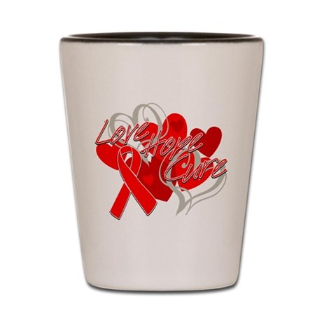 Blood Cancer Love Hope Cure Shot Glass
